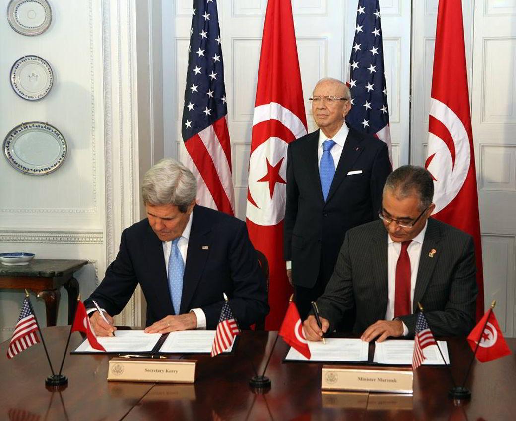 توقيع مذكرة التفاهم للتعاون طويل المدى بين تونس والولايات المتحدة الأمريكية